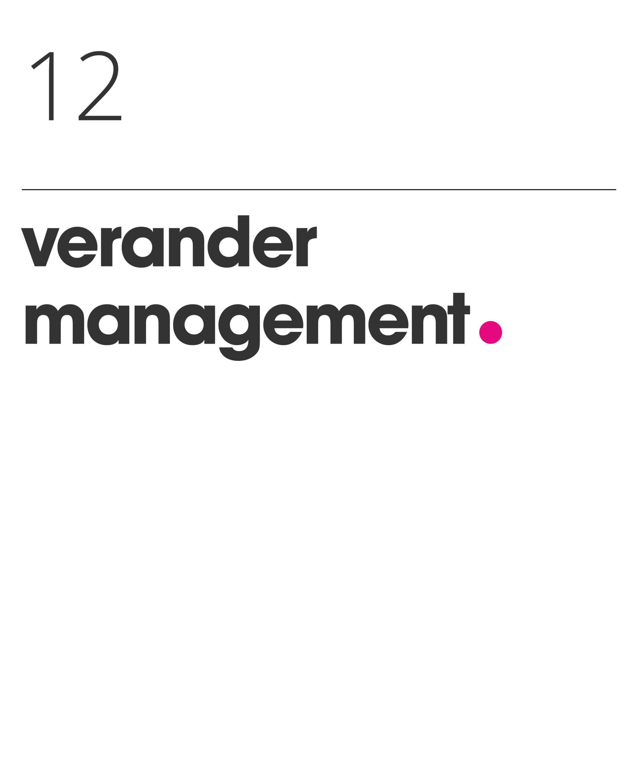 Verander management